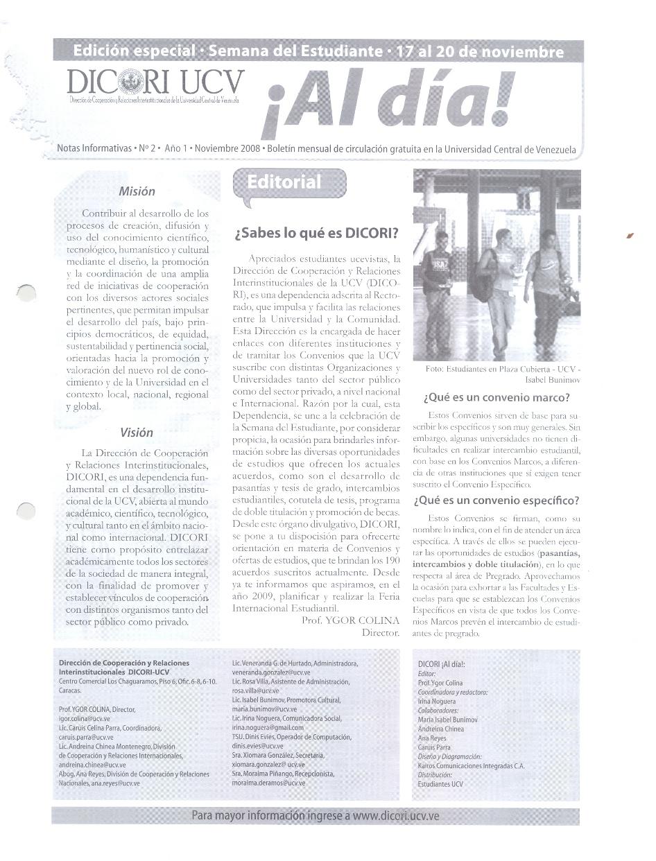 Boletin Noviembre 2008