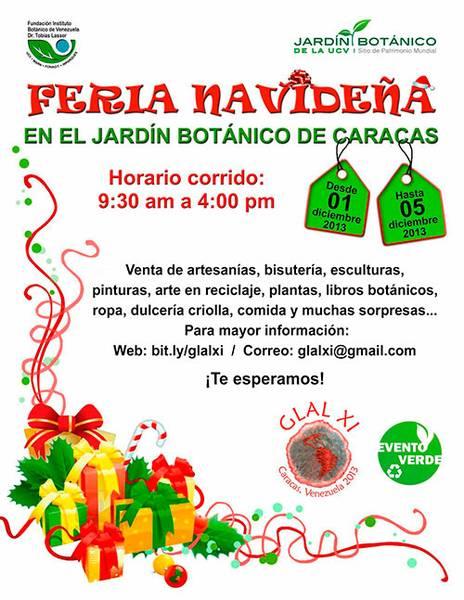 Feria navide a en el jard n bot nico de caracas for Jardin botanico horario